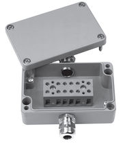 Aluminum junction box / IP66 / wall-mounted / with cable gland