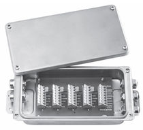 Stainless steel junction box / IP65 / wall-mounted