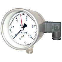 Analog pressure gauge / Bourdon tube / with electrical contact