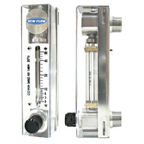 Variable-area flow meter / for air / for liquids / glass tube