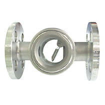 Stainless steel sight glass / flange