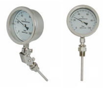 Gas thermometer / analog / insertion / stainless steel