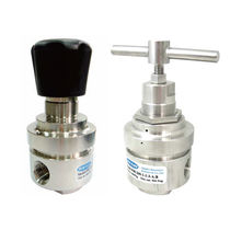 Gas pressure regulator / single-stage / membrane / stainless steel