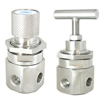 Gas pressure regulator and reducer / diaphragm / stainless steel