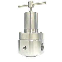 Gas pressure regulator and reducer / membrane / stainless steel