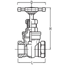Gate valve / manual / for chemicals / stainless steel