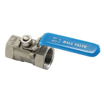 Ball valve / lever / for chemicals / threaded