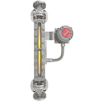 Liquid level indicator / bypass / direct-reading / flange
