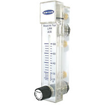 Variable-area flow meter / for liquids / for gas / plastic tube