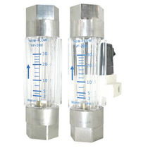 Variable-area flow meter / for water / for air / plastic tube