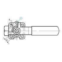 Ball valve / lever / for chemicals / 2-piece
