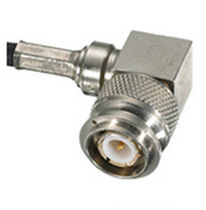 Coaxial connector / right-angle / threaded / RF