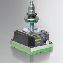 Machine foot / elastomer / anti-vibration / screw-in