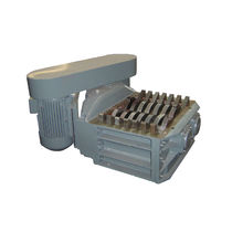 Double-shaft shredder / metal / rugged