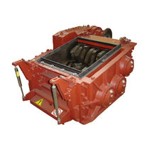 Three-shaft shredder / metal / rugged