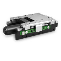 Linear positioning stage / motorized / compact