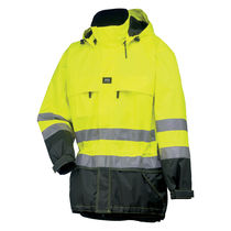 Cold weather jacket / waterproof / high-visibility / polyester