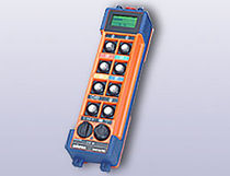 Radio remote control / with buttons / with display / for lifting equipment