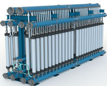 Membrane ultra-filtration unit / for water