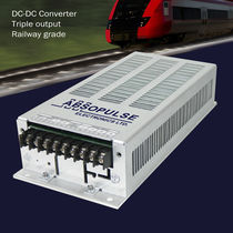 Isolated DC/DC converter / chassis-mounted / step-down / for railway applications