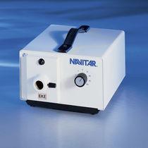 Halogen lamp illuminator / white / benchtop / for fiber optics