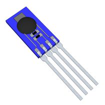 Relative humidity and temperature sensor / for integration / resistance / digital