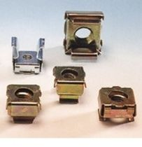 Crimp nut / square / cage / stainless steel