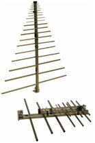 Radio antenna / log-periodic / rugged / compact