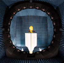 Anechoic test chamber / with window / antenna measurement