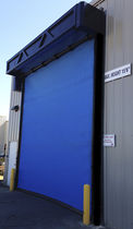 Roll-up doors / anodized aluminum / fabric / industrial