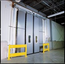 Sliding door / for cold storage / industrial / metal
