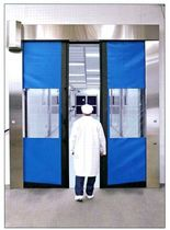 Horizontal roll-up doors / industrial / for the food industry / for clean-room