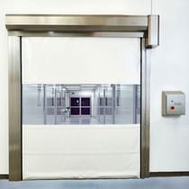 Roll-up doors / anodized aluminum / fabric / stainless steel