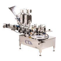 Automatic labeler / side / for self-adhesive labels / bottle