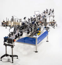 Linear labeler / automatic / side / for self-adhesive labels