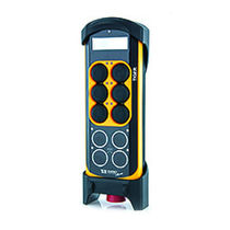 Radio remote control / 10-button / with integrated display / compact