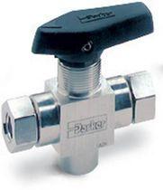 Plug valve / lever / high-pressure / 3-way