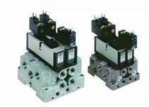 Spool pneumatic directional control valve / electrically-operated / base-mounted