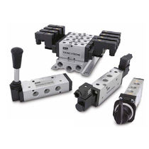 Spool pneumatic directional control valve / air-operated / aluminum / for extreme conditions