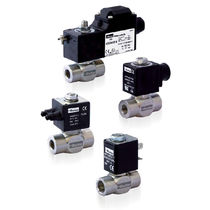 2-way solenoid valve / NC / stainless steel / IP67