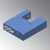 Laser fork light barrier