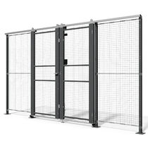 Safety doors / sliding / metal / wire mesh
