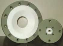 Pipe flange / stainless steel / PTFE-lined