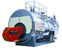 Steam boiler / gas / fire tube / three-pass