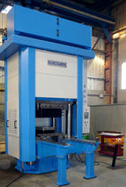 Electro-hydraulic press / stamping / for the aeronautical industry / 4-column