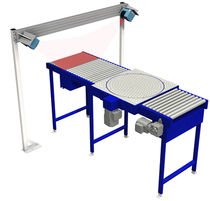 Conveyor rotating unit