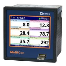 Temperature regulator with touchscreen / TFT graphic display / multi-channel / Ethernet