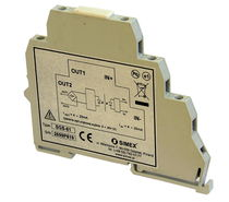 DIN rail mount temperature transmitter / RTD / 4-20 mA / USB