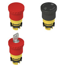 Mushroom push-button switch / key lock / single-pole / emergency stop