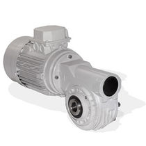 Worm gear reducer / right-angle / hollow-shaft / for marine applications